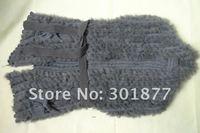 2012 New Fashion Genuine Knitted Rabbit Fur Vest drop shipping rabbit fur Shawl