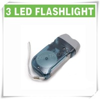 Светодиодный фонарик 3 LED Dynamo Wind up Flashlight NR Torch Light Camping GRAY LY-6103