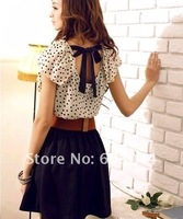 Женское платье 2012 FASHION WOMAN SUMMER DRESS+ WOMAN ONE-PIECE DRESS IN SLEEVELESS+CHIFON DRESS IN DOTS+SHORTSKIRT+ 0173