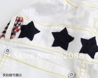 Шорты для девочек 5pcs Children's casual shorts Boys/girls shorts with star design Colour: Pink White Size: 90-130