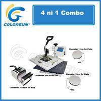 Оборудование термо приклеивания combo 4 in 1 heat press machine with CE Certificate