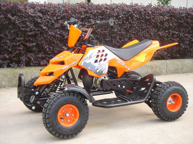 NEW 49CC MINI ATV QUAD FOR KIDS ELECTRIC START & PULL START