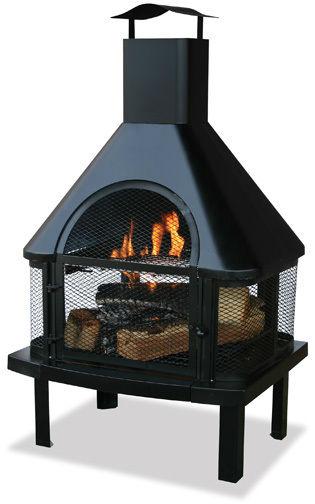 Outdoor Patio Square Fire Pit Metal Stove Barbecue Brazier