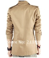 Мужской тренч Fashion men's casual jacket Korean men suits and men's coat Trench