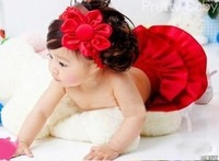 Комплект одежды для девочек Baby suit/ Baby PP skirt + flower headband/ Baby girl ruffle laced skirt/ Infant dress