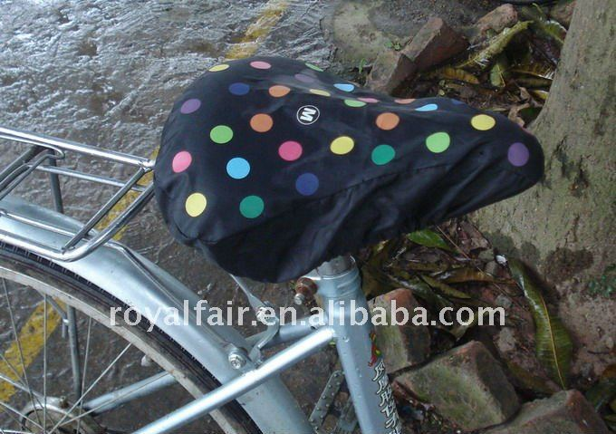 Factory promotional polyester yellow bike seat cover with elastic band closure