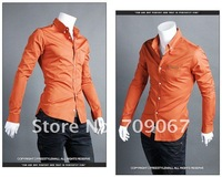Free Shipping 2012 New Men's Shirts.Bump Color Embroidery Shirts,Casual Slim Fit Stylish Dress Shirts Color:4 Colors Size:M-XXL