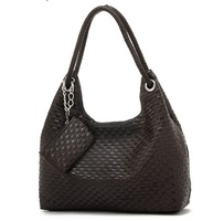 Сумка Hot sell! 2012 lady fashion totes, with pu leather, black, white, pink, brown, red, quality guarantee