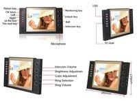 Видеодомофон 8 TFT LCD 2