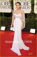 высокое качество стороны скольжения 2pcs Дженнифер Лопес знаменитости платья красный ковер платья фестиваль Оскар платья