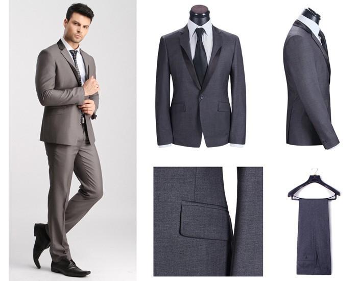 новые моды Корейский высокого качества двух штук мужских костюмов