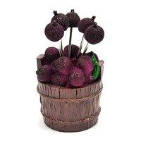 Нержавеющая сталь 5 waxberry фруктов вилки бочка waxberry плоды вилкой, purplish красный цвет.