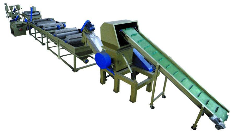 PE plastic film recycling line
