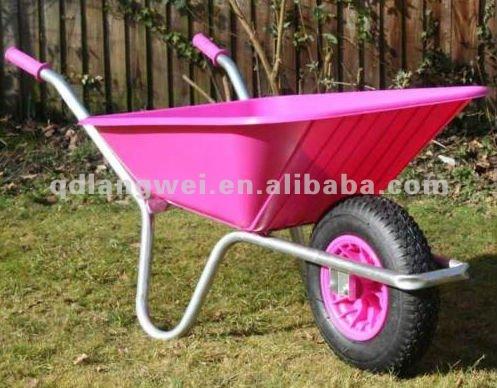 Rose l ger en aluminium brouette brouette id de produit for Brouette de jardin plastique