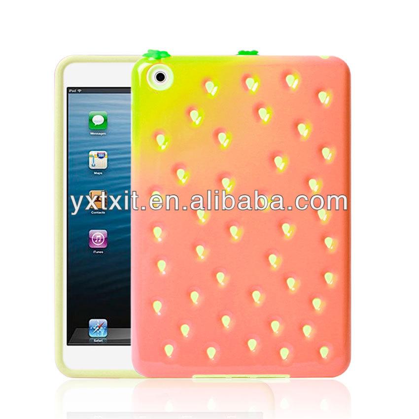Silicon + PC Hybrid Strawberry Case For iPad mini 2