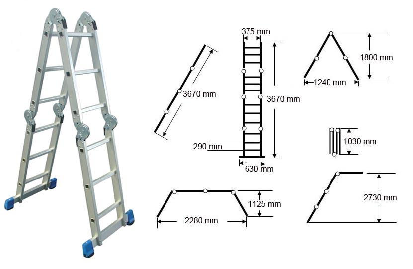 Multifuncional escalera escaleras identificaci n del for Normas de seguridad para escaleras fijas