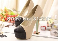 Туфли на высоком каблуке hot selling women fashion wedding Head matching color ultra high platform heels