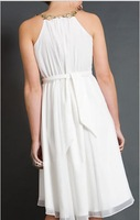 Свадебное платье A-Line Beaded Empire Tea Length Sexy Maternity Wedding Dresses for Pregnant As1112