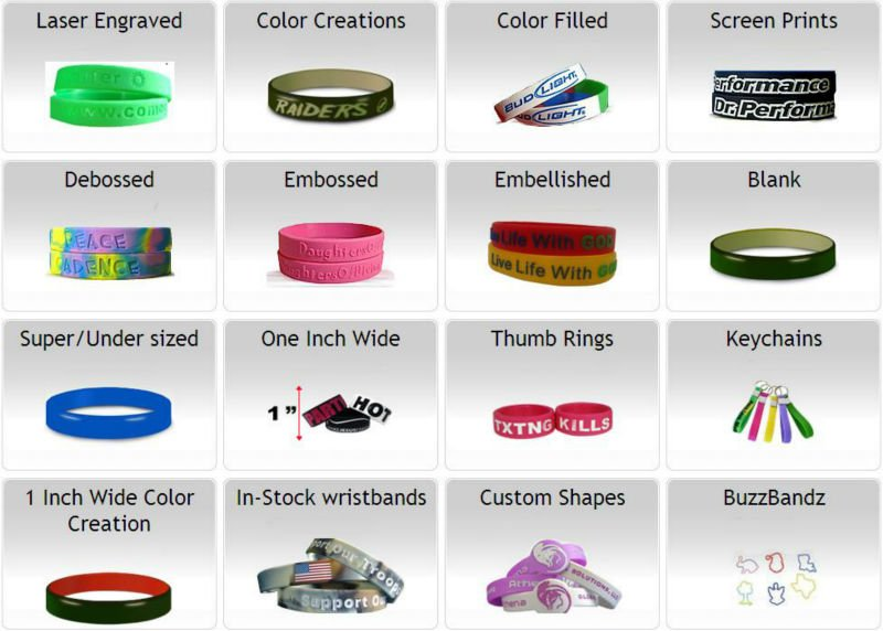 2015 promotion debossed and filled silicone bracelet