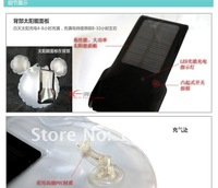 (Free shipping DHL-M ) 1piece sale Solar Lantern Bag Solar Energy Bag with 0.5W solar panel Outdoor lamp and camping Lantern