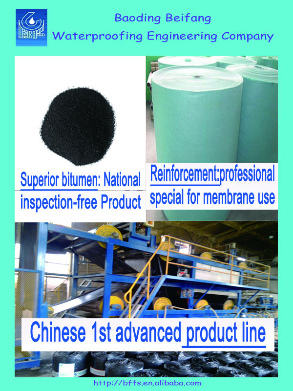 SBS engineering asphalt roll roofing factory