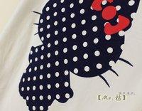 женщин милый мультфильм hello Китти cat печати o шеи хлопок короткие белые t майку леди вершины m/l/xl