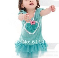 free shipping Baby summer roses love net veil put a small ocean skirt