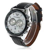Наручные часы High Quality Fashionable PU Leather Wristband Watch 81251-1