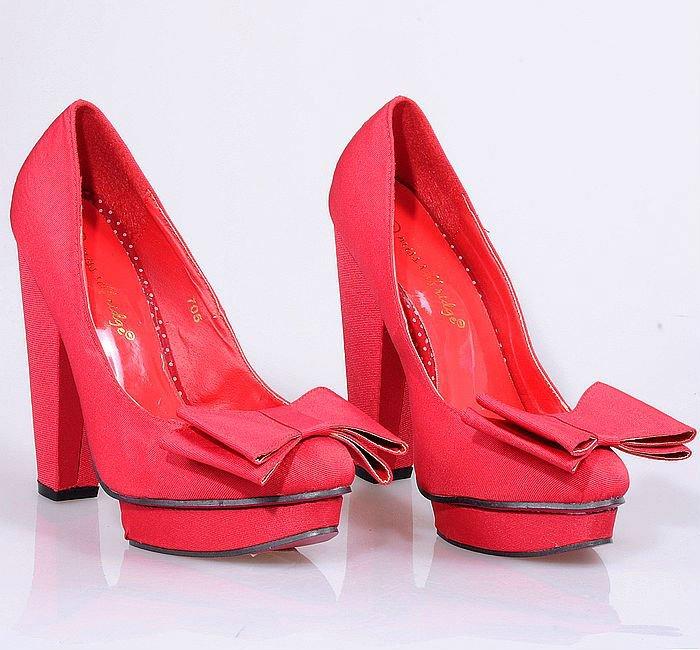 Красные Туфли На Платформе Фото
