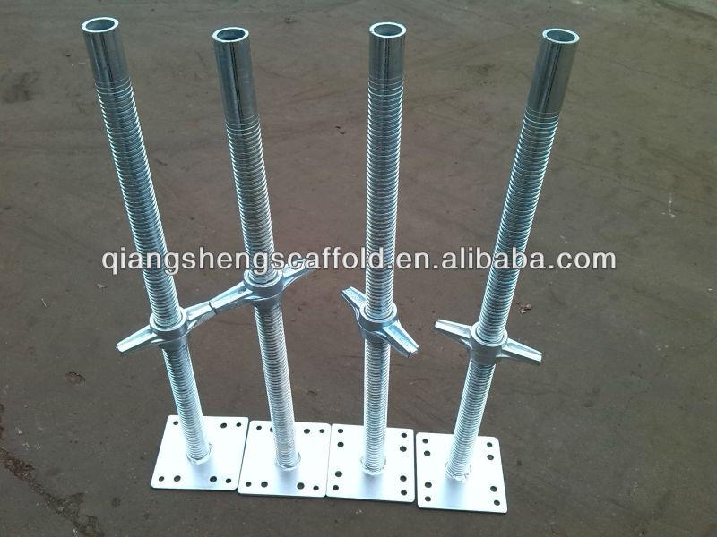 Scaffolding Universal Jack : Adjustable scaffolding hollow jack base pressed plate