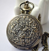 Карманные часы на цепочке Minimum order 30 USD: Hot sales Antique brass Egypt hall pocket watch / necklace gift jewelry accessories A1-21