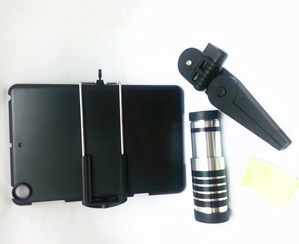 12 x оптический зум телескоп объектив камеры для ipad mini с штатив / дело / Розничная коробка 1pcs/lot