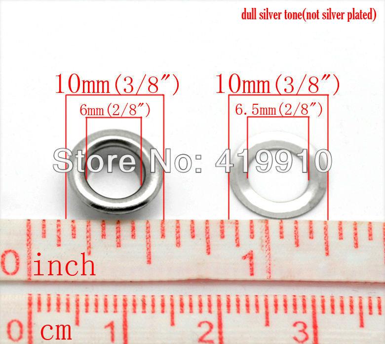 100pcs 3mm Scrapbook Eyelet Random Mixed Color Metal eyelets For DIY clothes PB