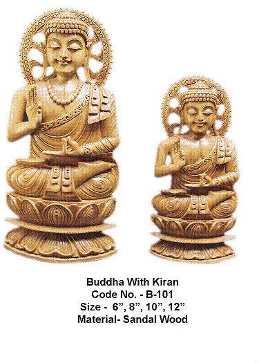 Carved Buddha Mysore Sandalwood
