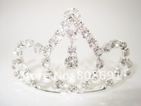 Lose Money Price Bridal Wedding Crystal Crown Tiara Wedding Kid's Children's Hair Jewelry for FREE SHIPPING