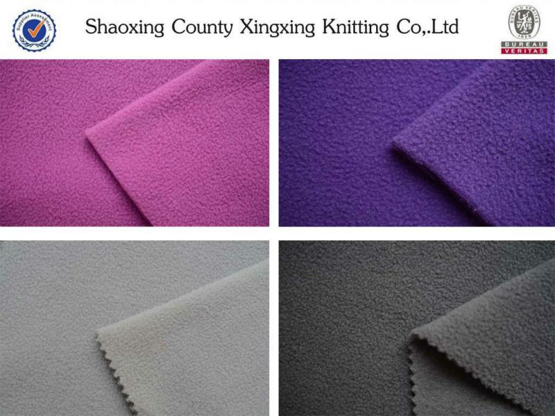 100D/144F micro soft anti-pilling fleece fabric textile