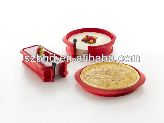 Newest Design Silicone 9 Inch Springform Cheesecake Pan With Glass Base