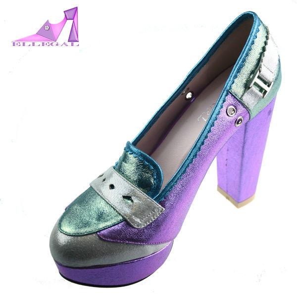 Women platform high heels oxford shoes