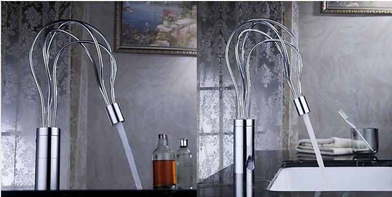 Купить Бесплатная доставка 2016 современный дизайн Cairoa сообщение одной ручкой латунь кухонный смеситель кран раковины кухни