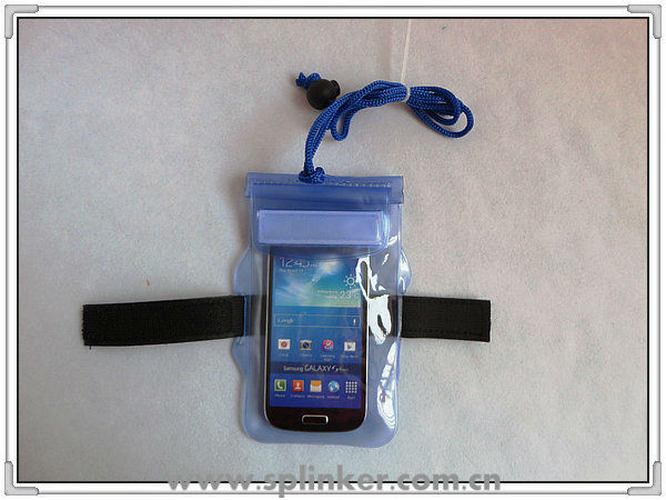 New 2 Zipper Armband PVC Dry Waterproof Bag For Iphone 5 And Samsung Galaxy S3 I9300 P5526-44