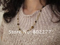 Tigerite necklace,lot 12pcs free shipping OY022427
