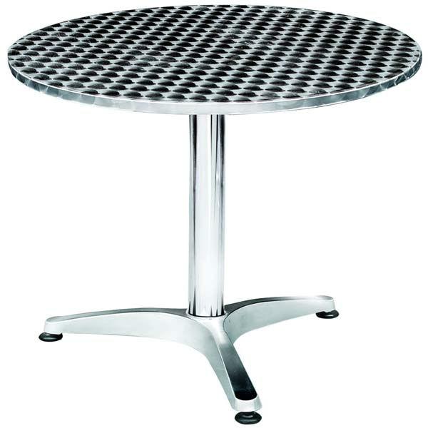 Pliante en plein air en aluminium ronde bistro table table pliante id de prod - Table ronde en aluminium ...