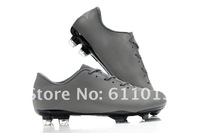 Free China post air mail T90-8 TPU men's player football shoes gray black applicable
