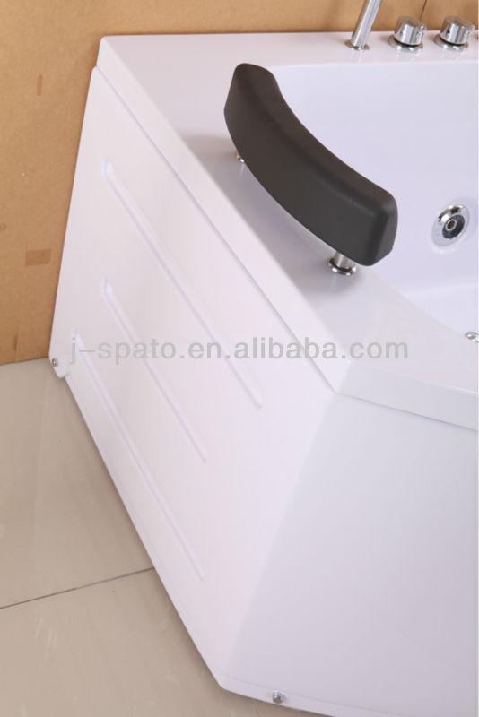 Hangzhou Bathroom Ce Certification Unique ABS Plastic And Fiberglass Douche Triangle Sex Adult Jet 1 Person Massage Bathtub