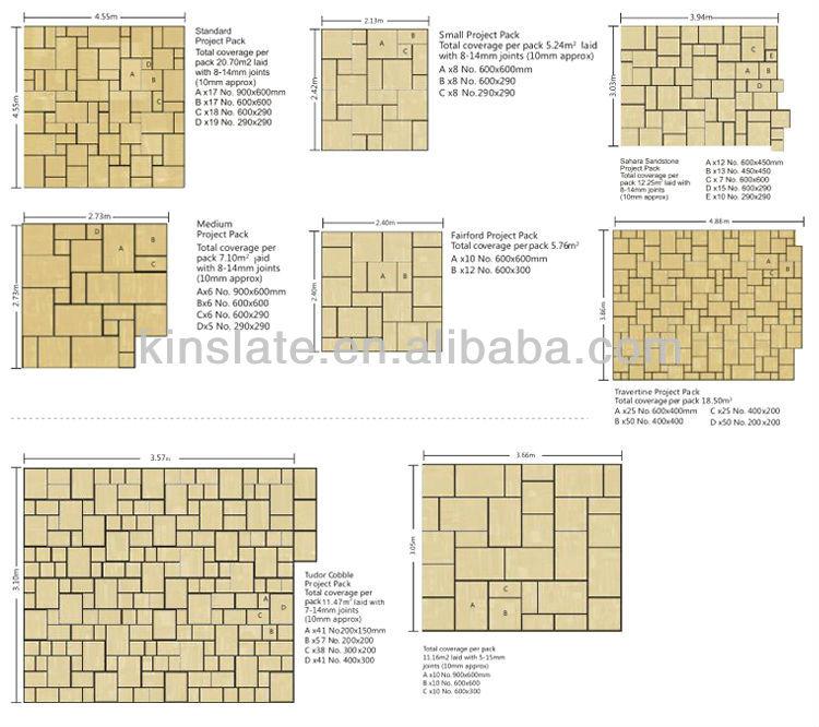 KINSLATE S-0103XZ Natural slate paving