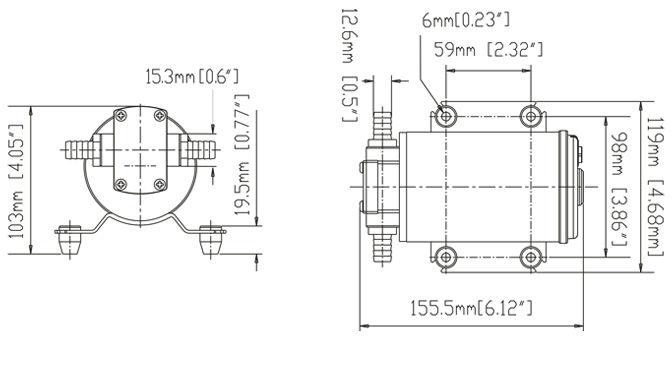 Hidráulica Bomba de Engrenagem/Bomba De Transferência De Combustível de 12 Volts