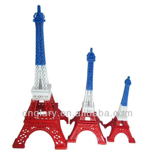 Colorful paris eiffel tower