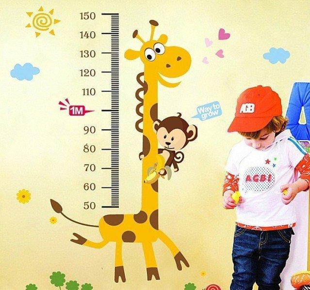 envío gratis jirafa altura pintura decorativa pegatinas papel ...