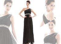 Free shipping  Drop Shipping Low-key Luxury Long evening dress Sloping shoulder Beauty drill RG1209026