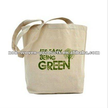 Eco and Green Natural canvas Cloth Bag